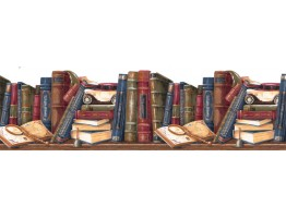 Books Wallpaper Border GS273B