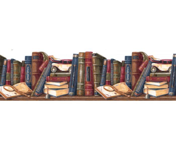 Novelty Wallpaper Borders: Books Wallpaper Border GS273B