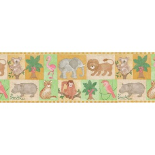 9 3/4 in x 15 ft Prepasted Wallpaper Borders - Kids Wall Paper Border B27905