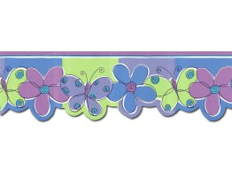 Butterfly Flower Wallpaper Border JFM2801DB