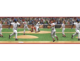 9 in x 15 ft Prepasted Wallpaper Borders - Sports Wall Paper Border TW38054B