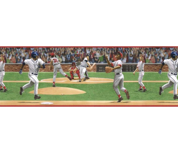 Baseball Wallpaper Borders: Sports Wallpaper Border TW38054B