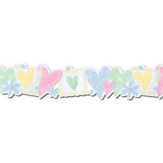 6 in x 15 ft Prepasted Wallpaper Borders - Kids Wall Paper Border JFM2806DB