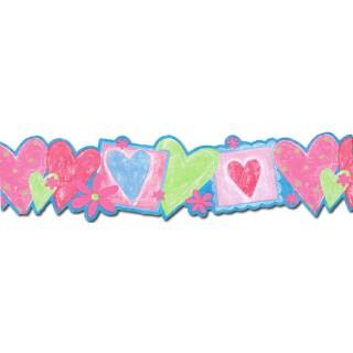 6 in x 15 ft Prepasted Wallpaper Borders - Kids Wall Paper Border JFM2808DB