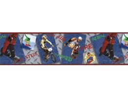 Sports Wallpaper Border JFM2818B