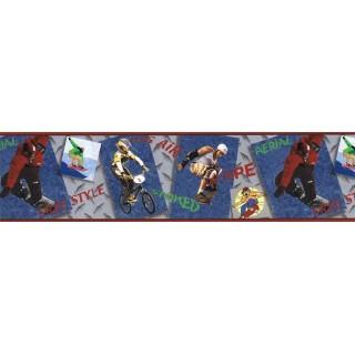 7 in x 15 ft Prepasted Wallpaper Borders - Sports Wall Paper Border JFM2818B