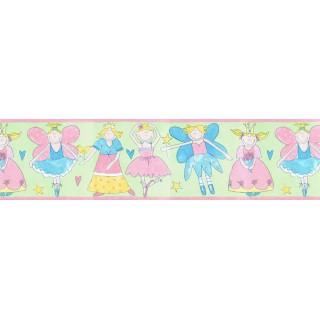 6 7/8 in x 15 ft Prepasted Wallpaper Borders - Angels Wall Paper Border JFM2823B