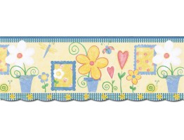 Prepasted Wallpaper Borders - Kids Wall Paper Border JFM2826DB