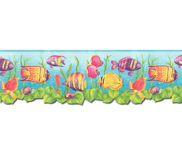 Sea World Wall Borders: Sea World Wallpaper Border JFM2832DB