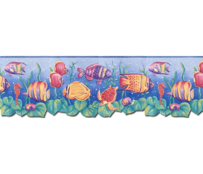 Clearance: Sea World Wallpaper Border JFM2833DB