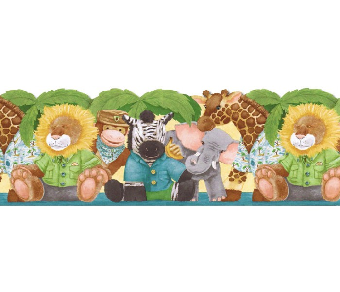 Toys Wallpaper Borders: Animals Wallpaper Border JFM2839DB