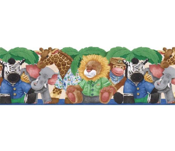 Toys Wallpaper Borders: Animals Wallpaper Border JFM2840DB