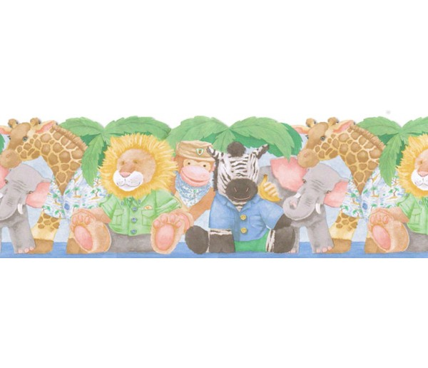 Toys Animals Wallpaper Border JFM2841DB Wallcrown LTD.