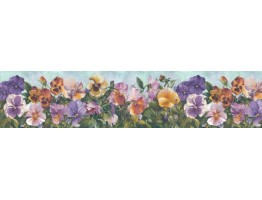 6 7/8 in x 15 ft Prepasted Wallpaper Borders - Floral Wall Paper Border B28974