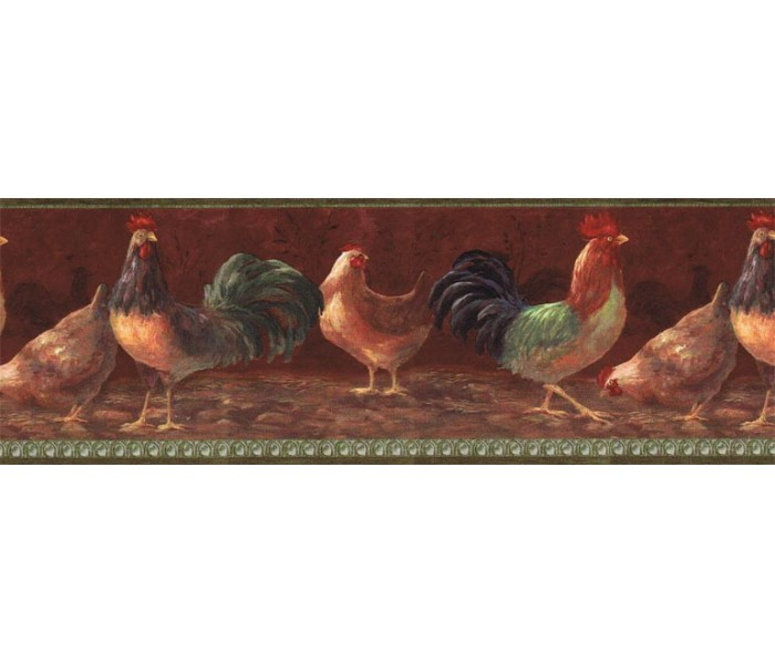 Roosters Wallpaper Borders: Roosters Wallpaper Border TH29000B