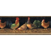 Roosters Wallpaper Borders: Roosters Wallpaper Border TH29002B