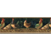Clearance: Roosters Wallpaper Border TH29003B