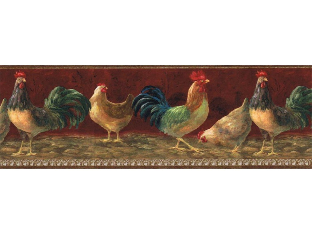 Roosters Wallpaper Border TH29004B