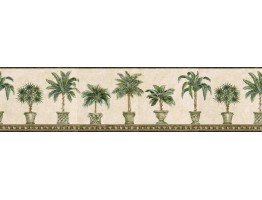 Prepasted Wallpaper Borders - Trees Wall Paper Border TH29009B