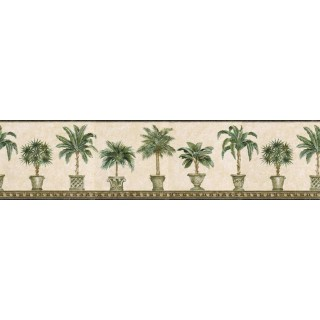 6 7/8 in x 15 ft Prepasted Wallpaper Borders - Trees Wall Paper Border TH29009B