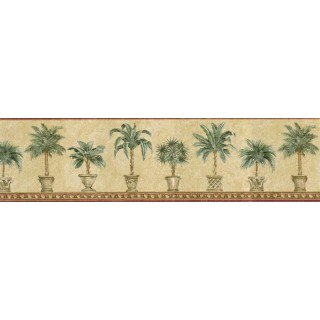 6 7/8 in x 15 ft Prepasted Wallpaper Borders - Trees Wall Paper Border TH29010B