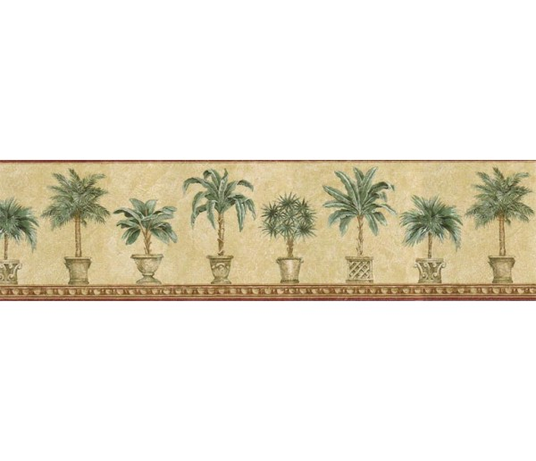 Tropical Wallpaper Borders: Trees Wallpaper Border TH29010B