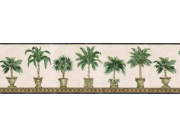 Prepasted Wallpaper Borders - Trees Wall Paper Border TH29011B