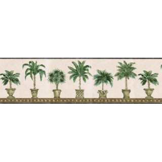6 7/8 in x 15 ft Prepasted Wallpaper Borders - Trees Wall Paper Border TH29011B