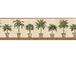 Prepasted Wallpaper Borders - Trees Wall Paper Border TH29012B