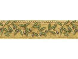 6 7/8 in x 15 ft Prepasted Wallpaper Borders - Leafs Wall Paper Border TH29013B