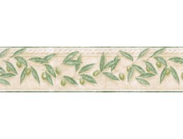 Prepasted Wallpaper Borders - Leafs Wall Paper Border TH29014B