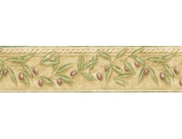 Prepasted Wallpaper Borders - Leafs Wall Paper Border TH29015B