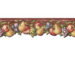 Prepasted Wallpaper Borders - Fruits Wall Paper Border TH29016DB