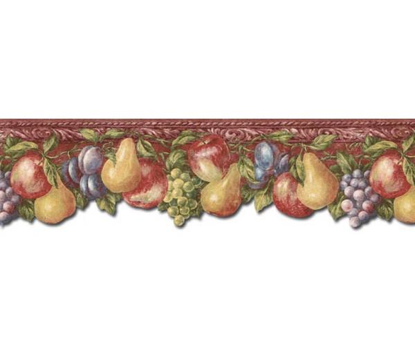 Clearance: Fruits Wallpaper Border TH29016DB