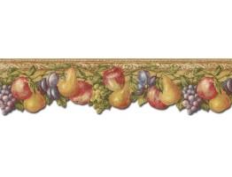 Prepasted Wallpaper Borders - Fruits Wall Paper Border TH29017DB