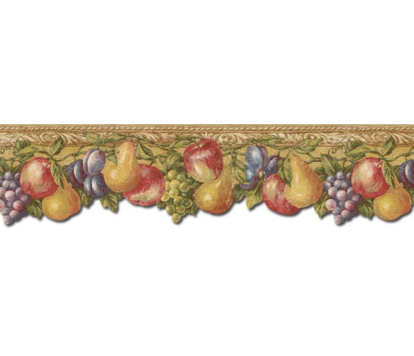 Clearance: Fruits Wallpaper Border TH29017DB