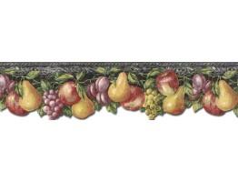 Prepasted Wallpaper Borders - Fruits Wall Paper Border TH29018DB