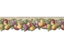 Prepasted Wallpaper Borders - Fruits Wall Paper Border TH29019DB