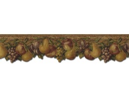 Prepasted Wallpaper Borders - Fruits Wall Paper Border TH29020DB