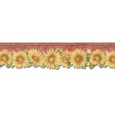 Sunflower Wallpaper Borders: Sunflowers Wallpaper Border TH29022DB