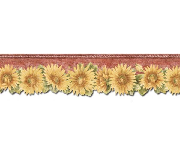 Sunflower Wallpaper Borders: Sunflowers Wallpaper Border TH29022DB