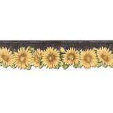 Sunflower Wallpaper Borders: Sunflowers Wallpaper Border TH29023DB