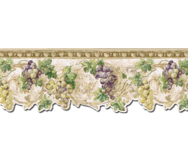 Clearance: Grape Fruits Wallpaper Border TH29032DB