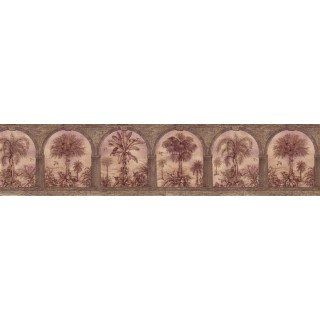 6 3/4 in x 15 ft Prepasted Wallpaper Borders - Country Wall Paper Border B29579