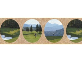Prepasted Wallpaper Borders - Golf Wall Paper Border B29629