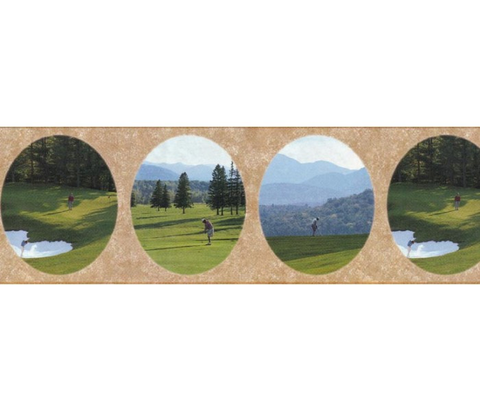 Golf Wallpaper Borders: Golf wallpaper Border B29629