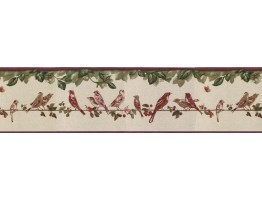 Prepasted Wallpaper Borders - Birds Wall Paper Border B30036