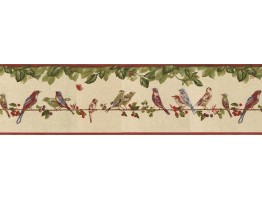 Prepasted Wallpaper Borders - Birds Wall Paper Border B30037