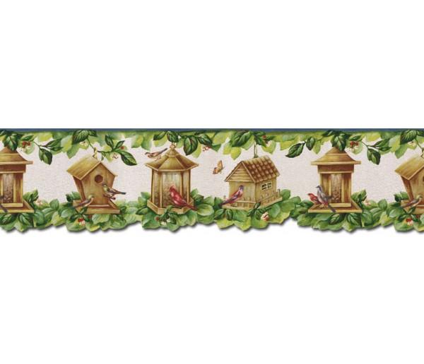 Bird Houses Wallpaper Borders: Birds House Wallpaper Border B30038