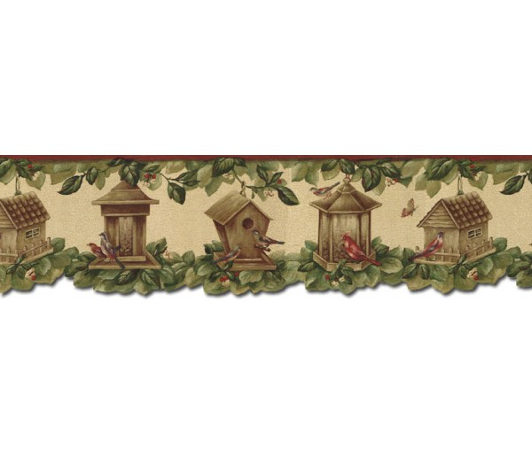 Bird Houses Wallpaper Borders: Birds House Wallpaper Border B30040